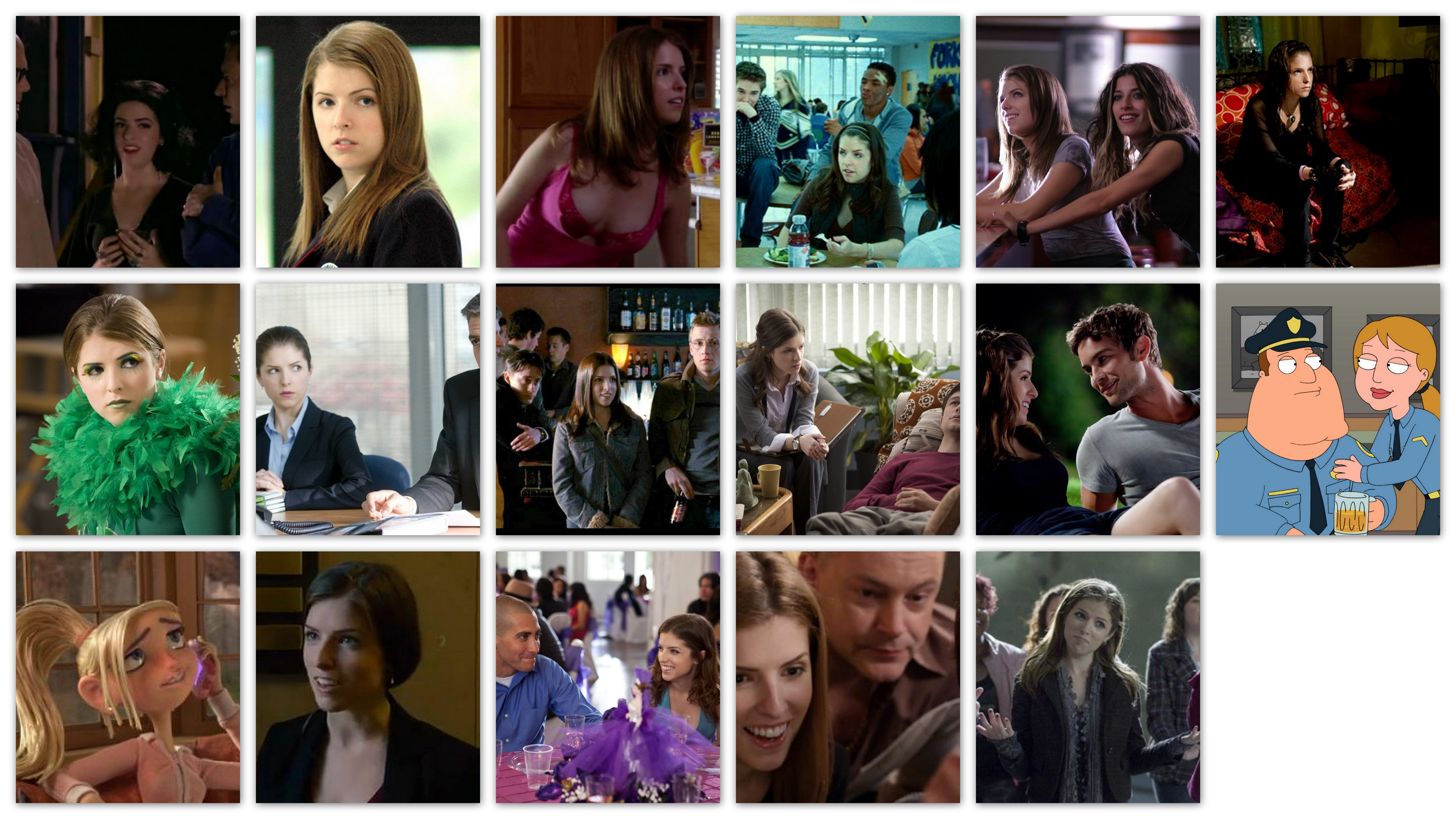 Overview of the roles of Anna Kendrick movies
