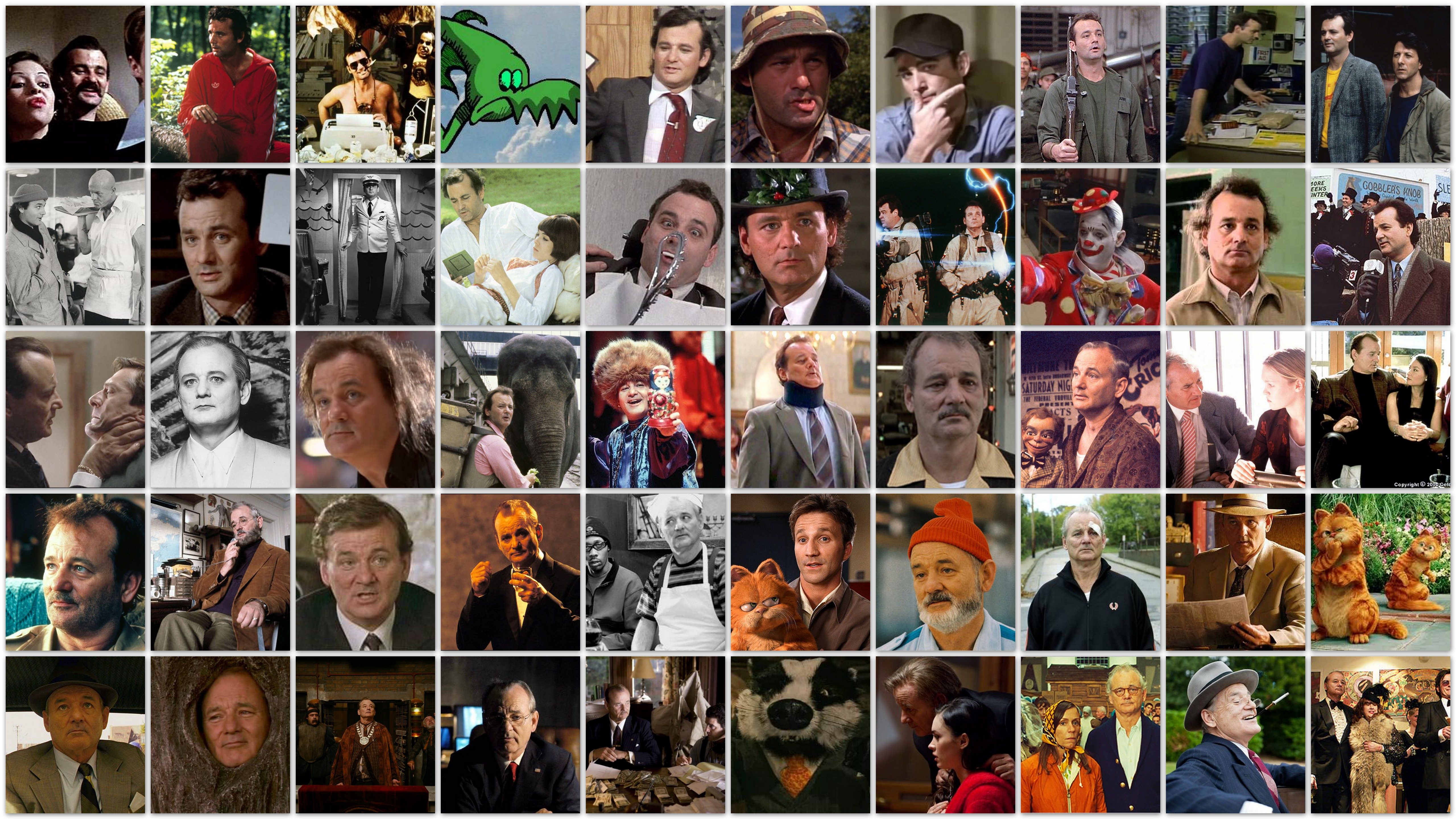 Overview roles and movies of actor Bill Murray