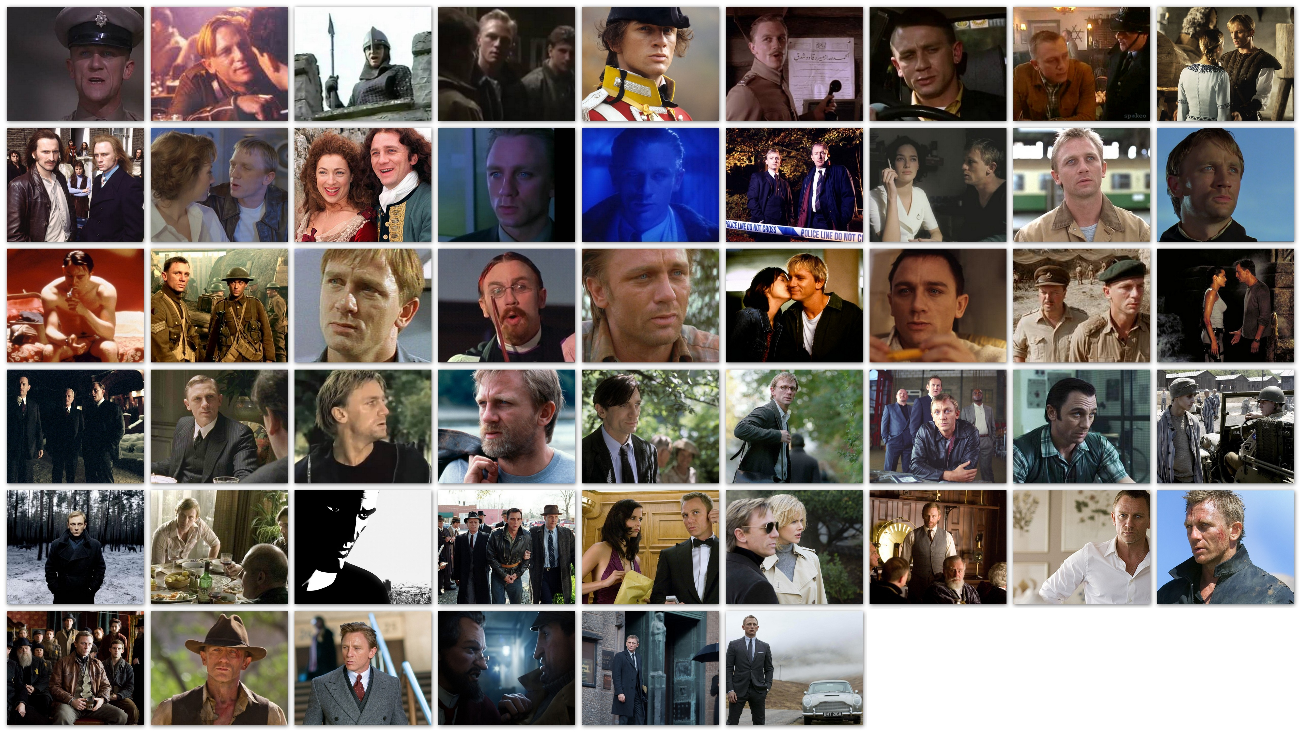 Overview of the roles of Daniel Craig movies