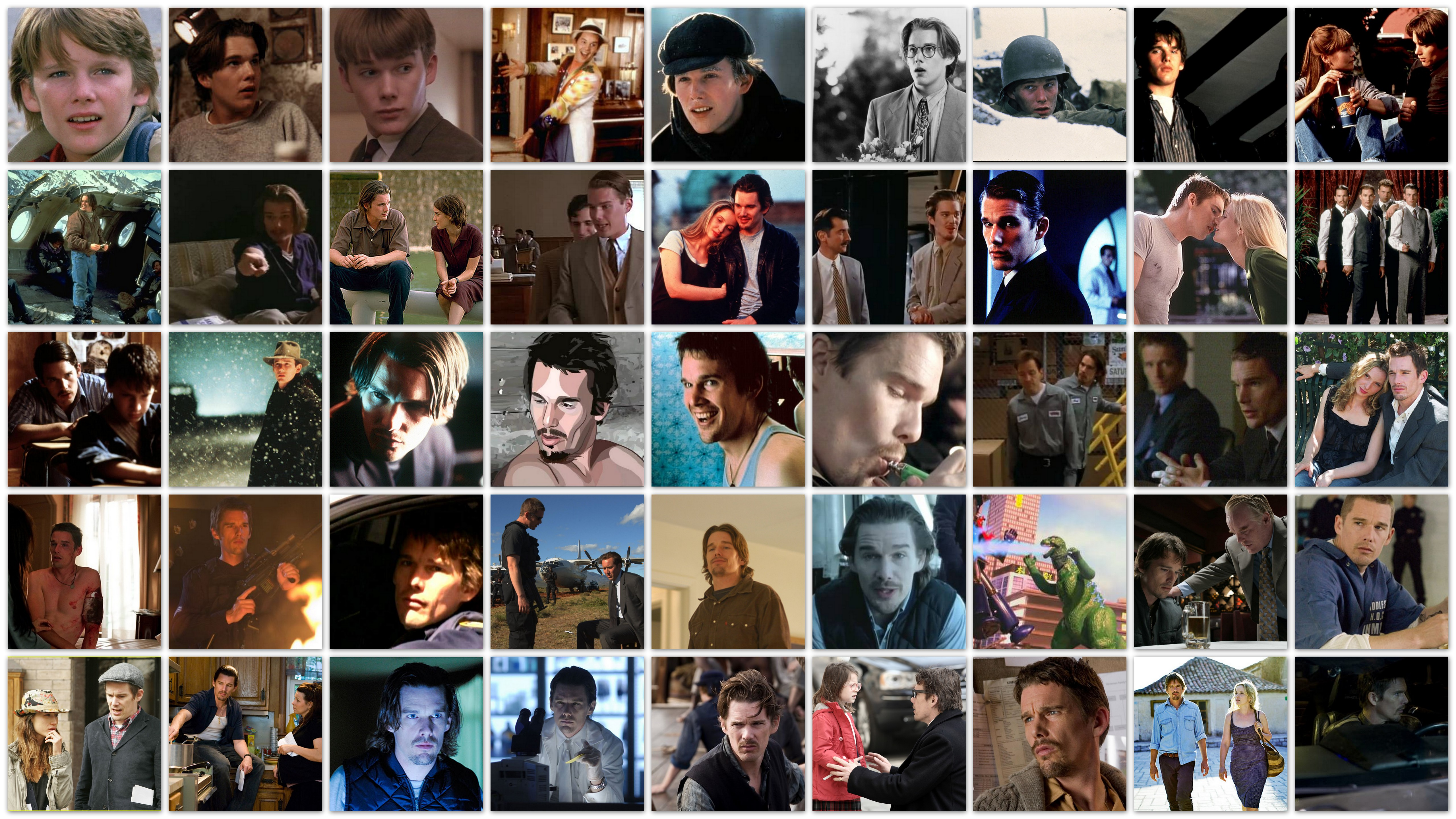 Overview of the roles of actor Ethan Hawke career movies