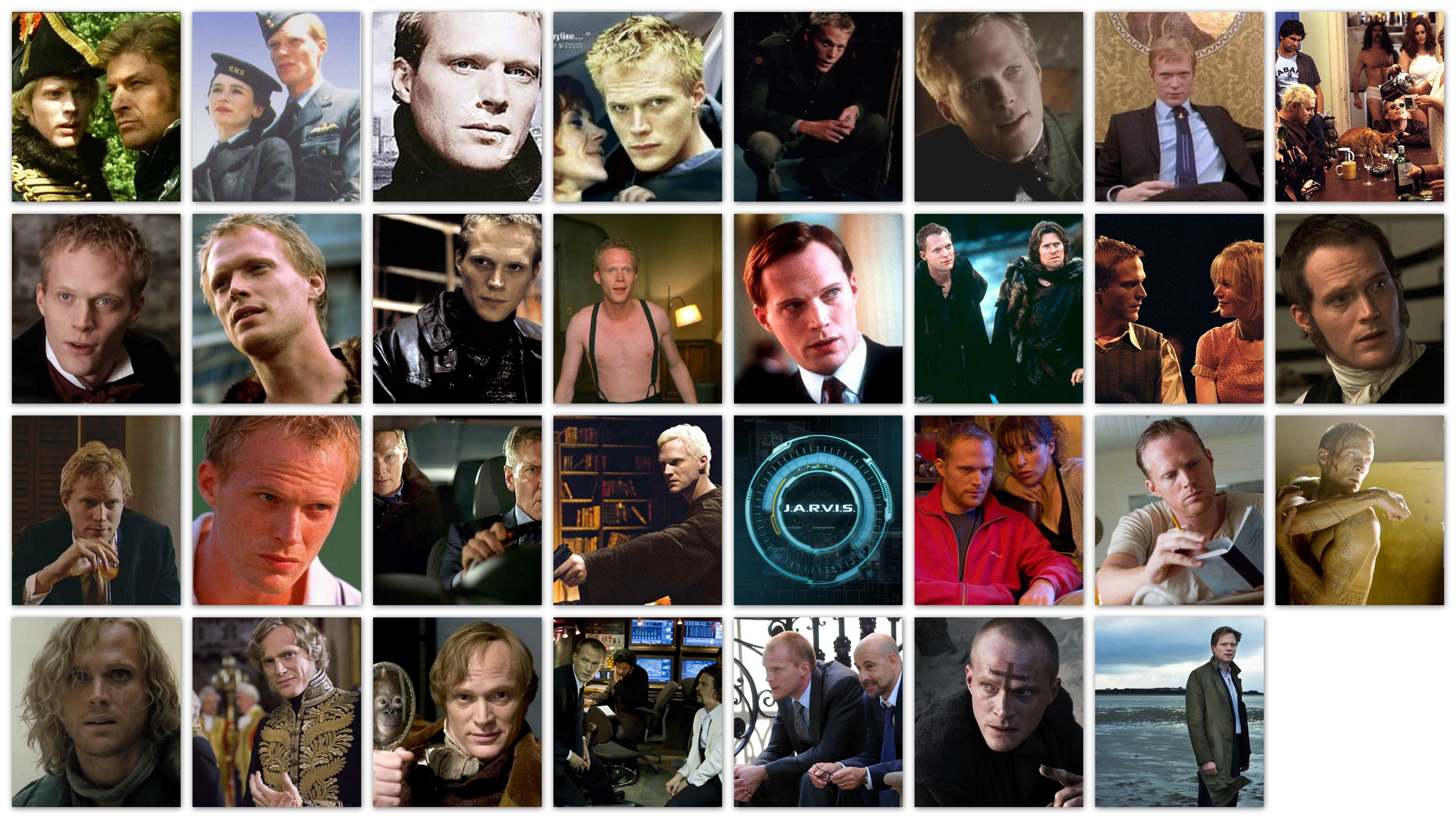 Overview of the roles of Paul Bettany in movies