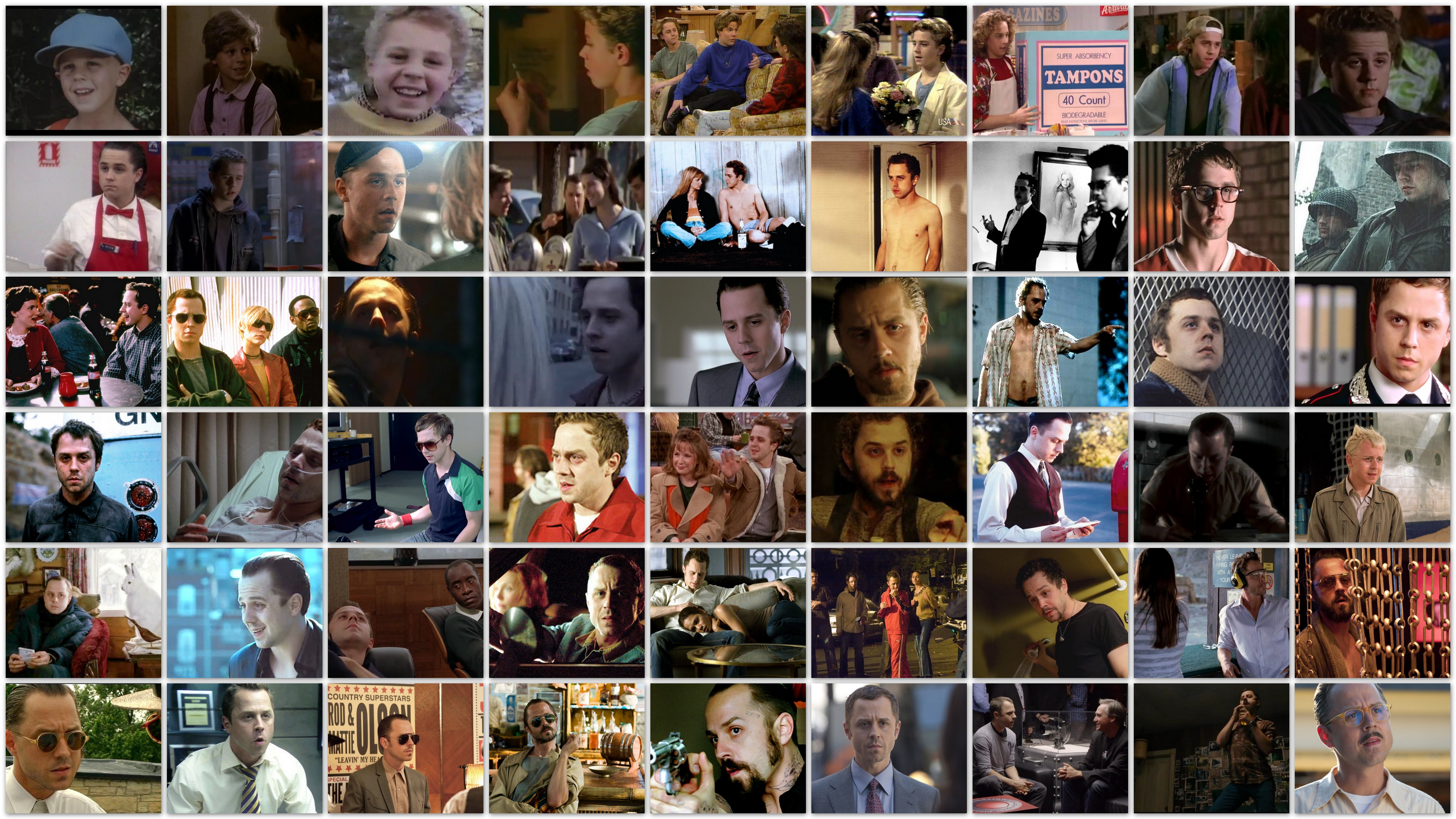 Overview of the roles of actor Giovanni Ribisi in movies and tv