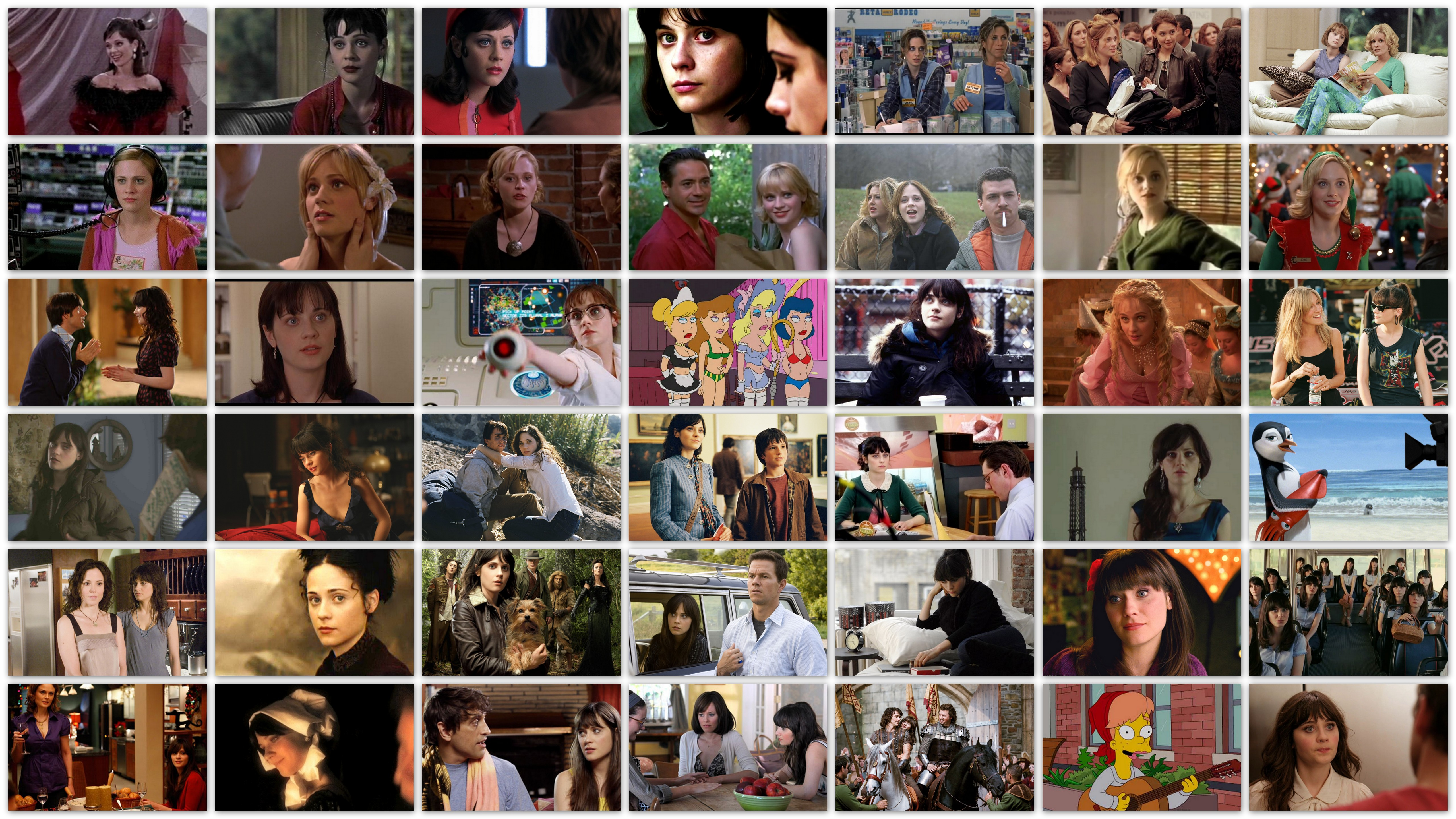Overview of roles Zooey Deschanel movies pictures