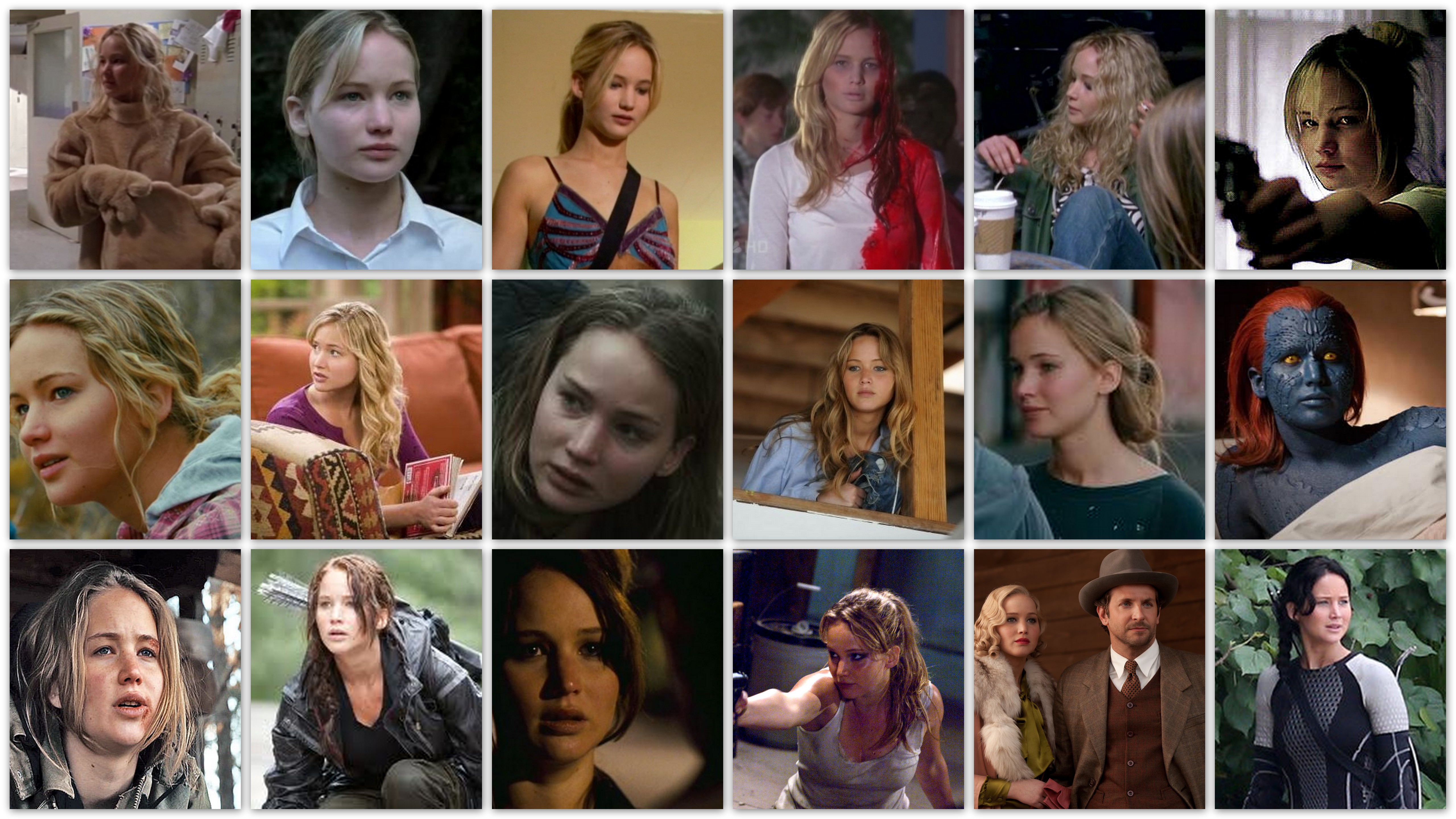 Overview of the roles of Jennifer Lawrence