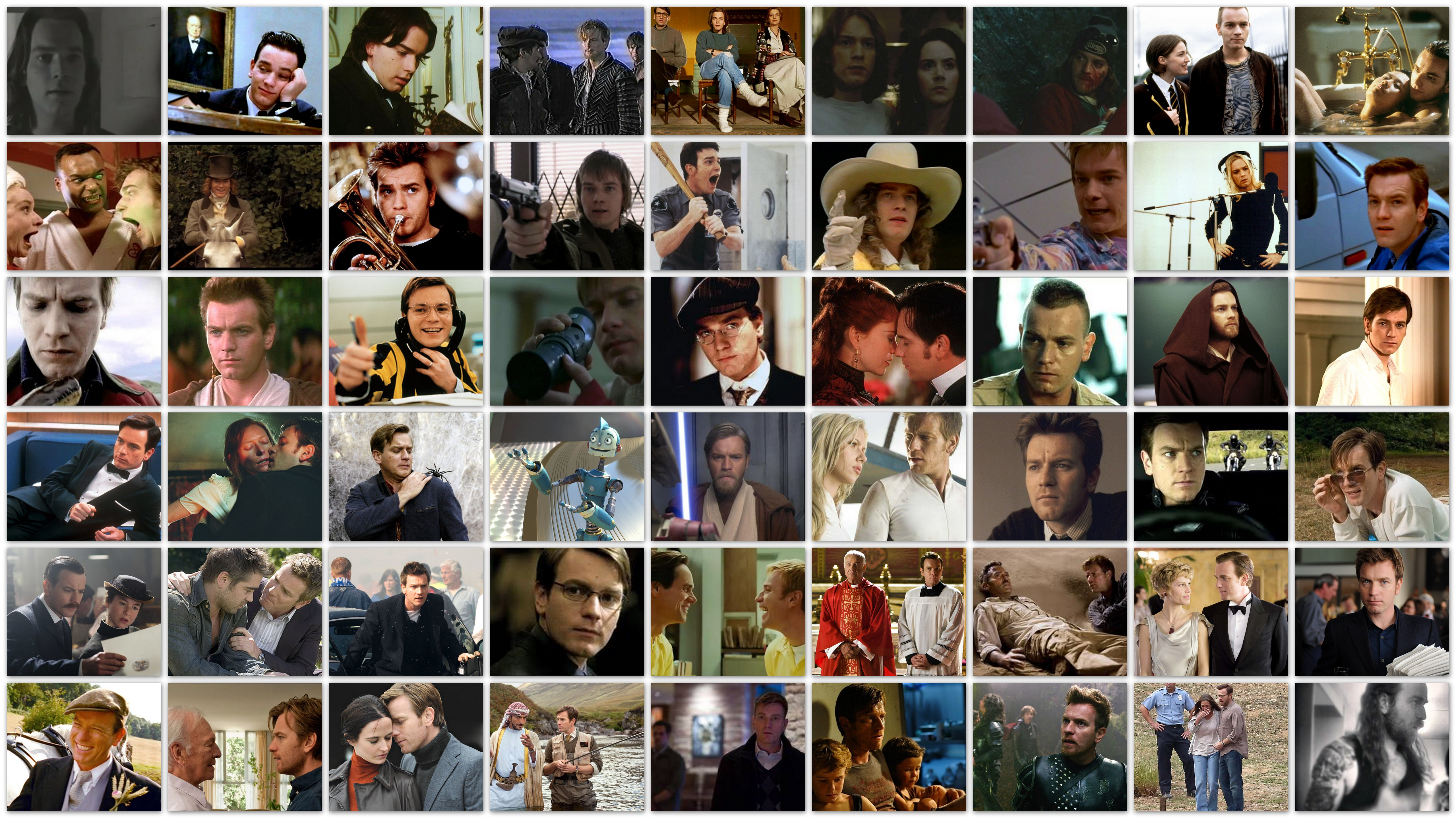 Overview in pictures of the roles of actor Ewan McGregor in his movie career