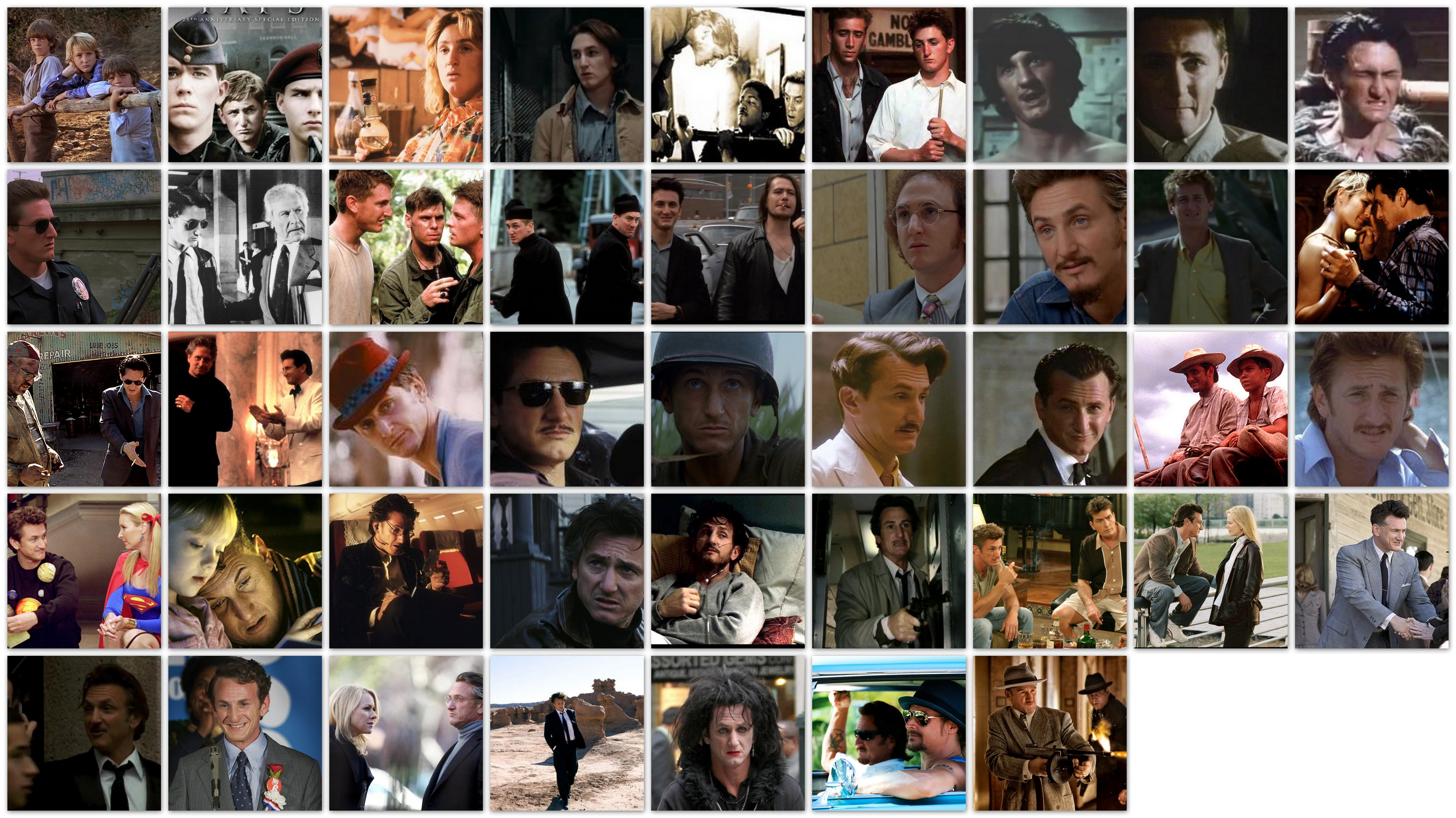Overview of the roles and movies of Sean Penn