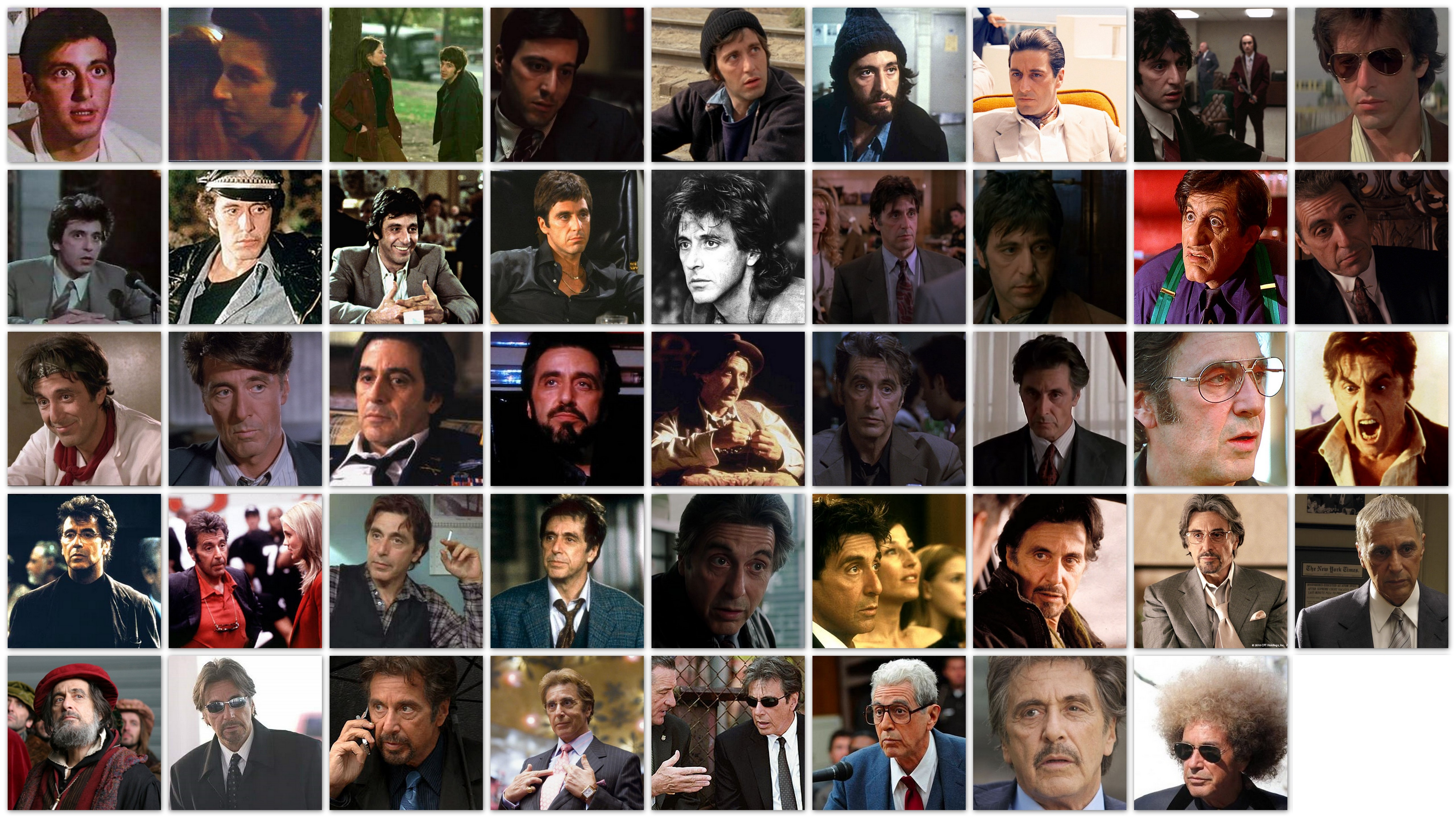 An overview of the roles of actor Al Pacino