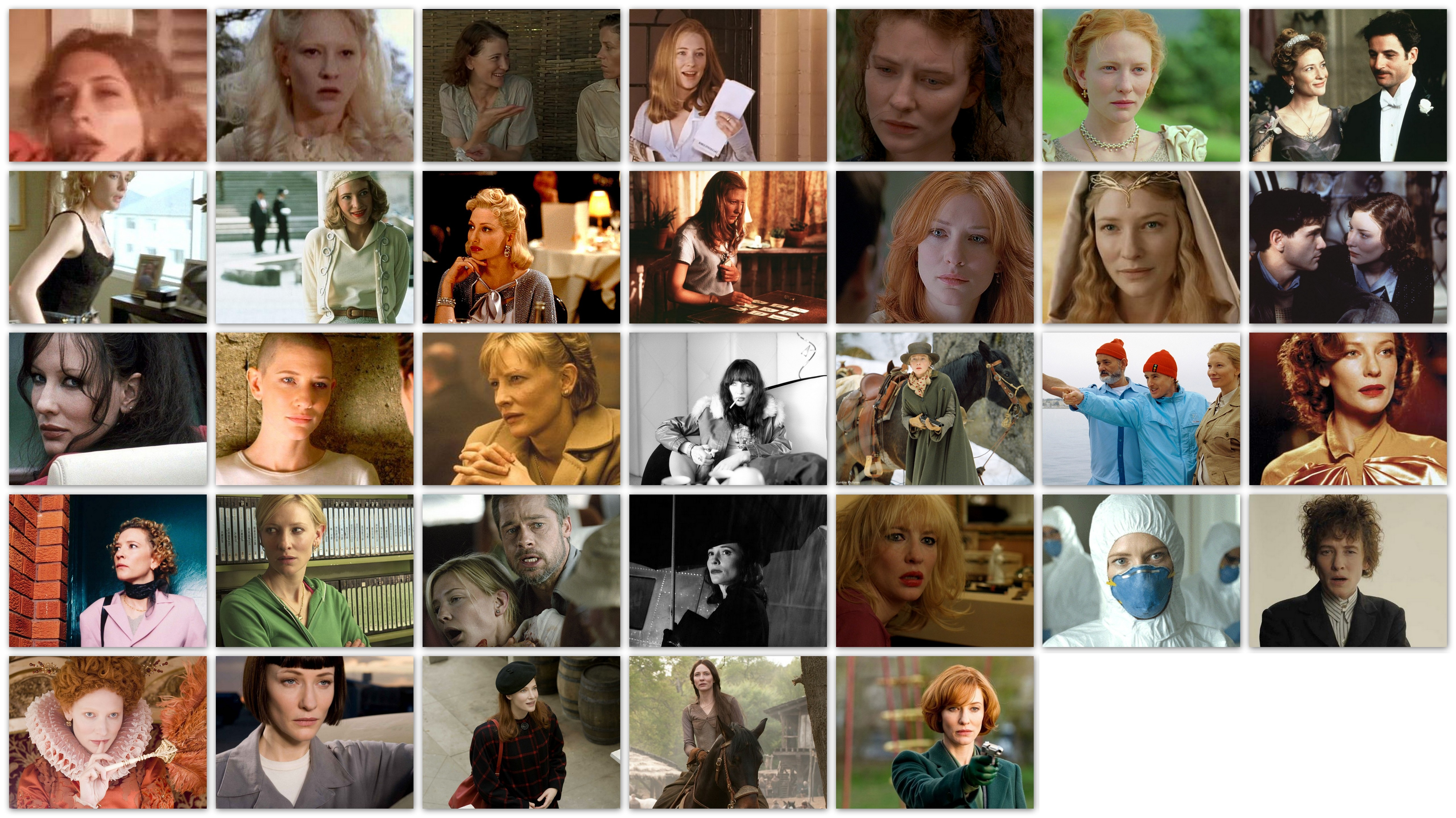 Overview roles movies Cate Blanchett