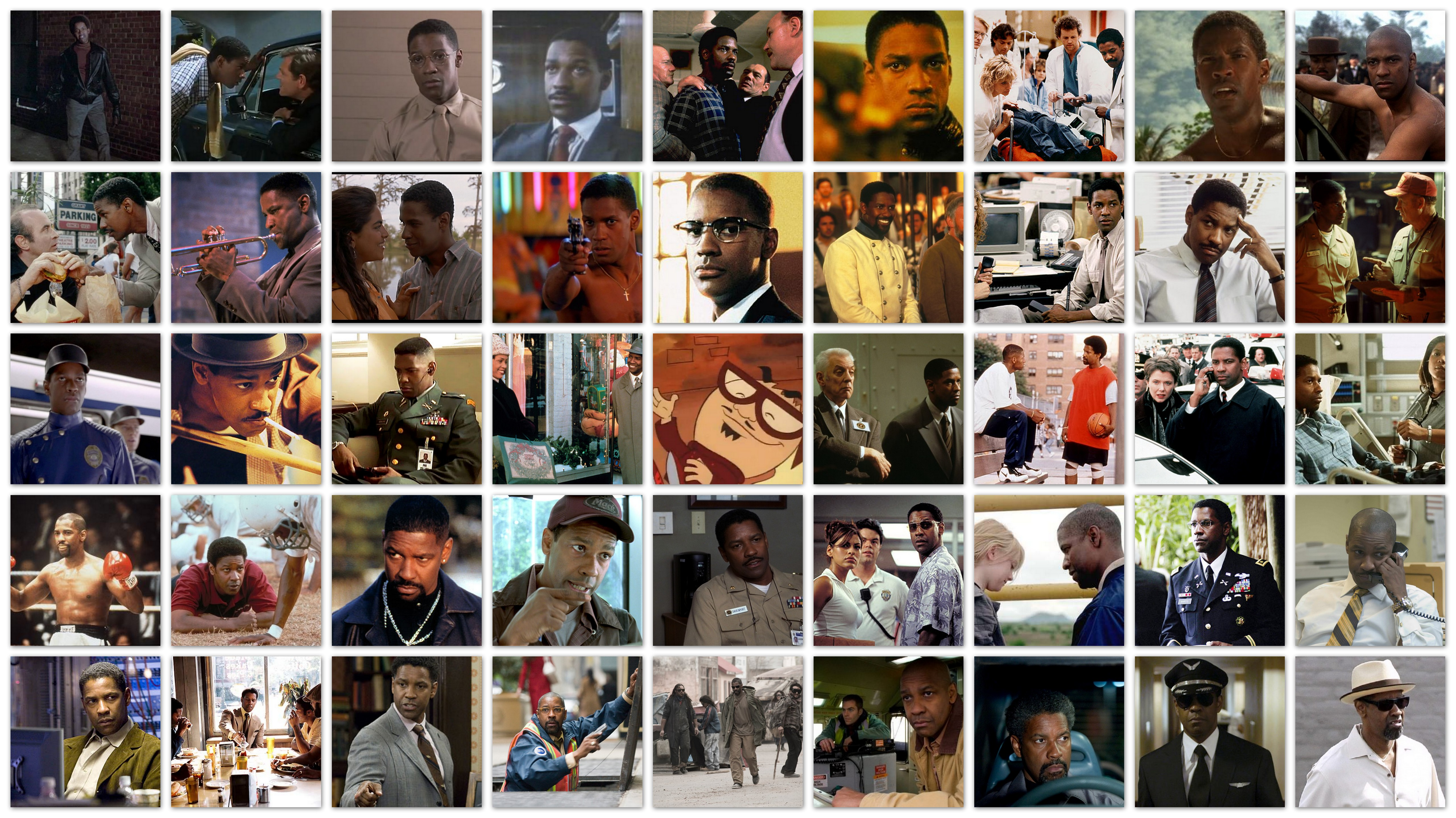 overview roles Denzel Washington