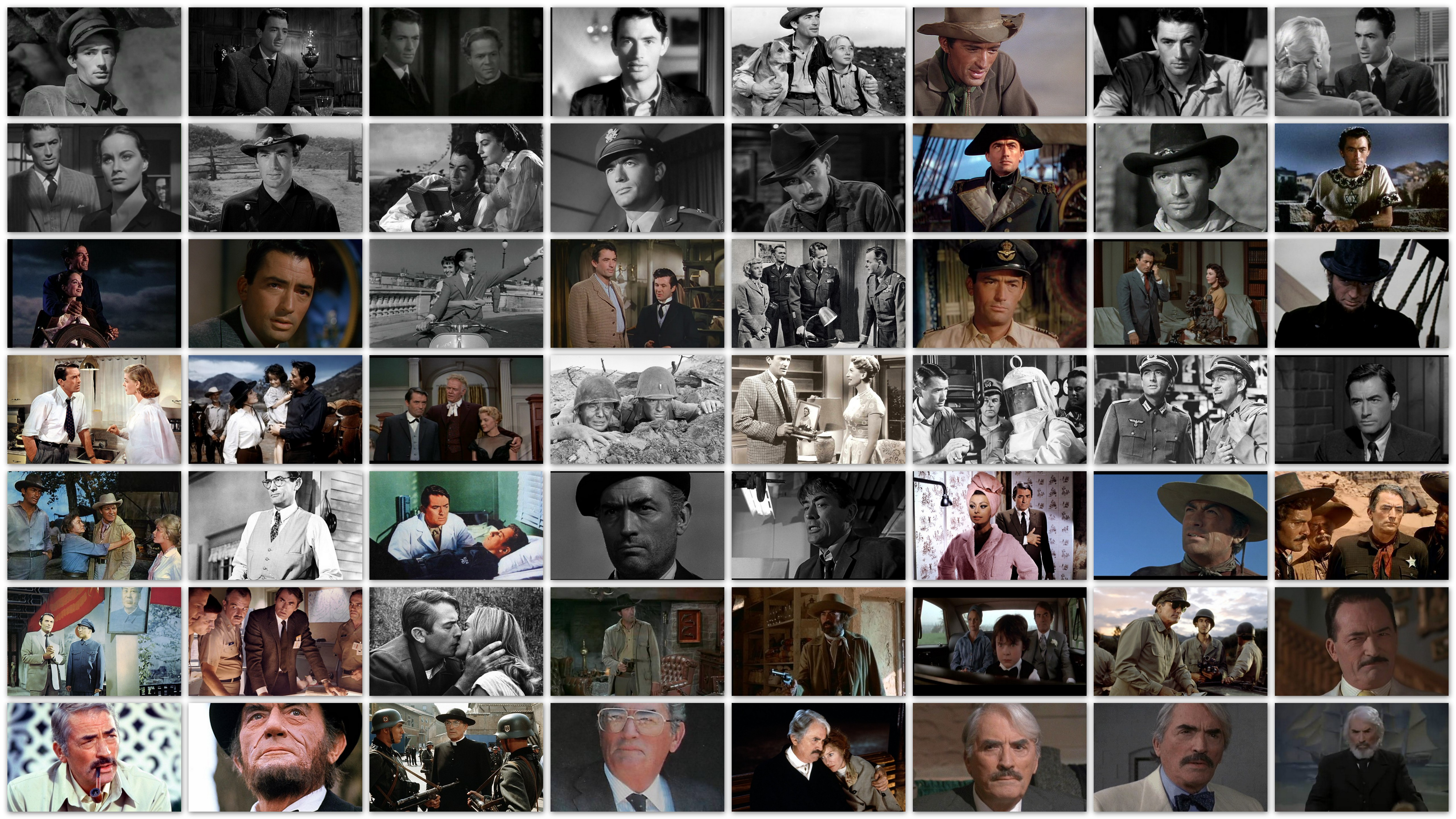 Roles of Gregory Peck