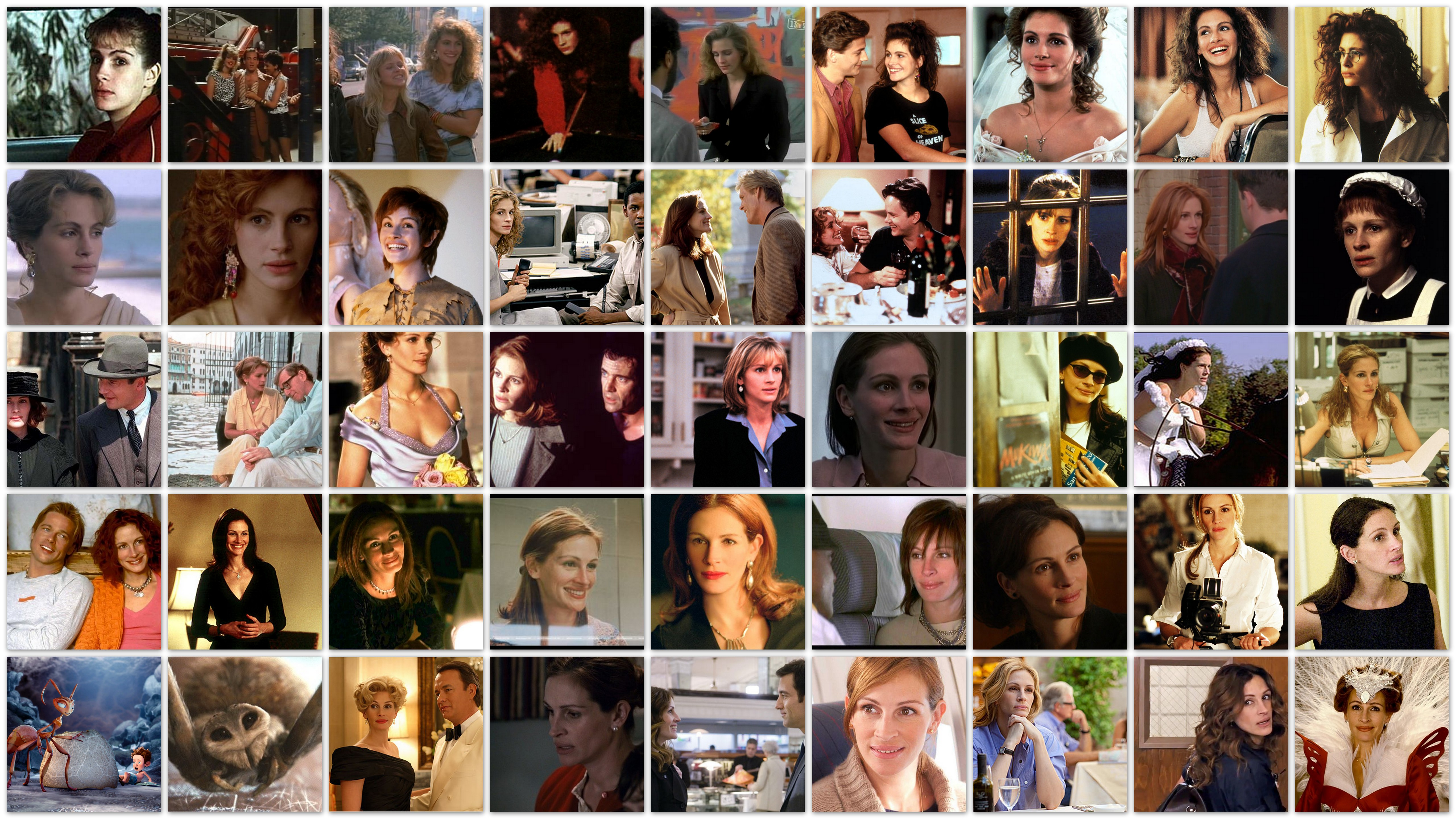 Overview roles Julia Roberts movies