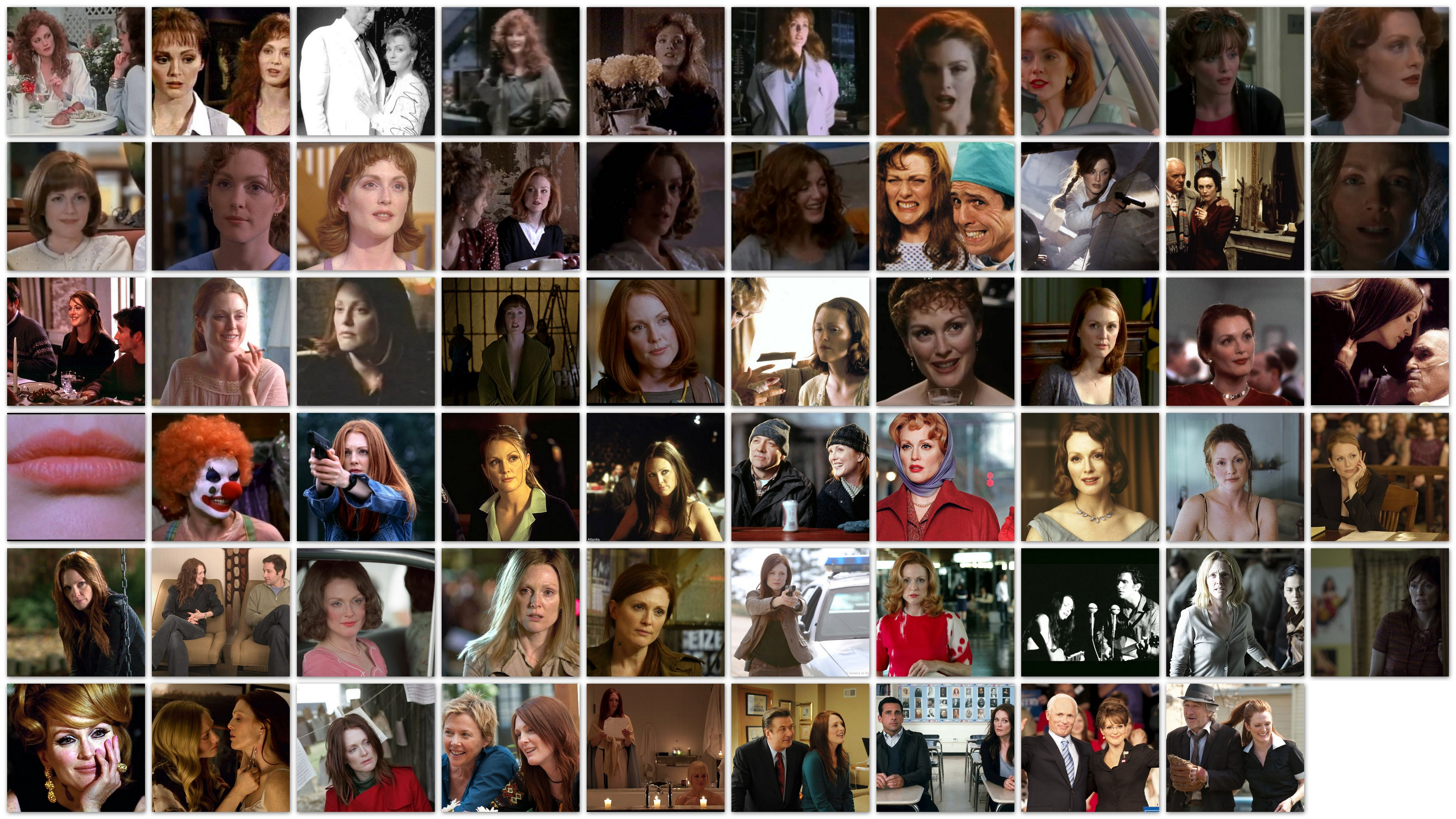 many faces of, Julianne Moore, overview, roles, movies