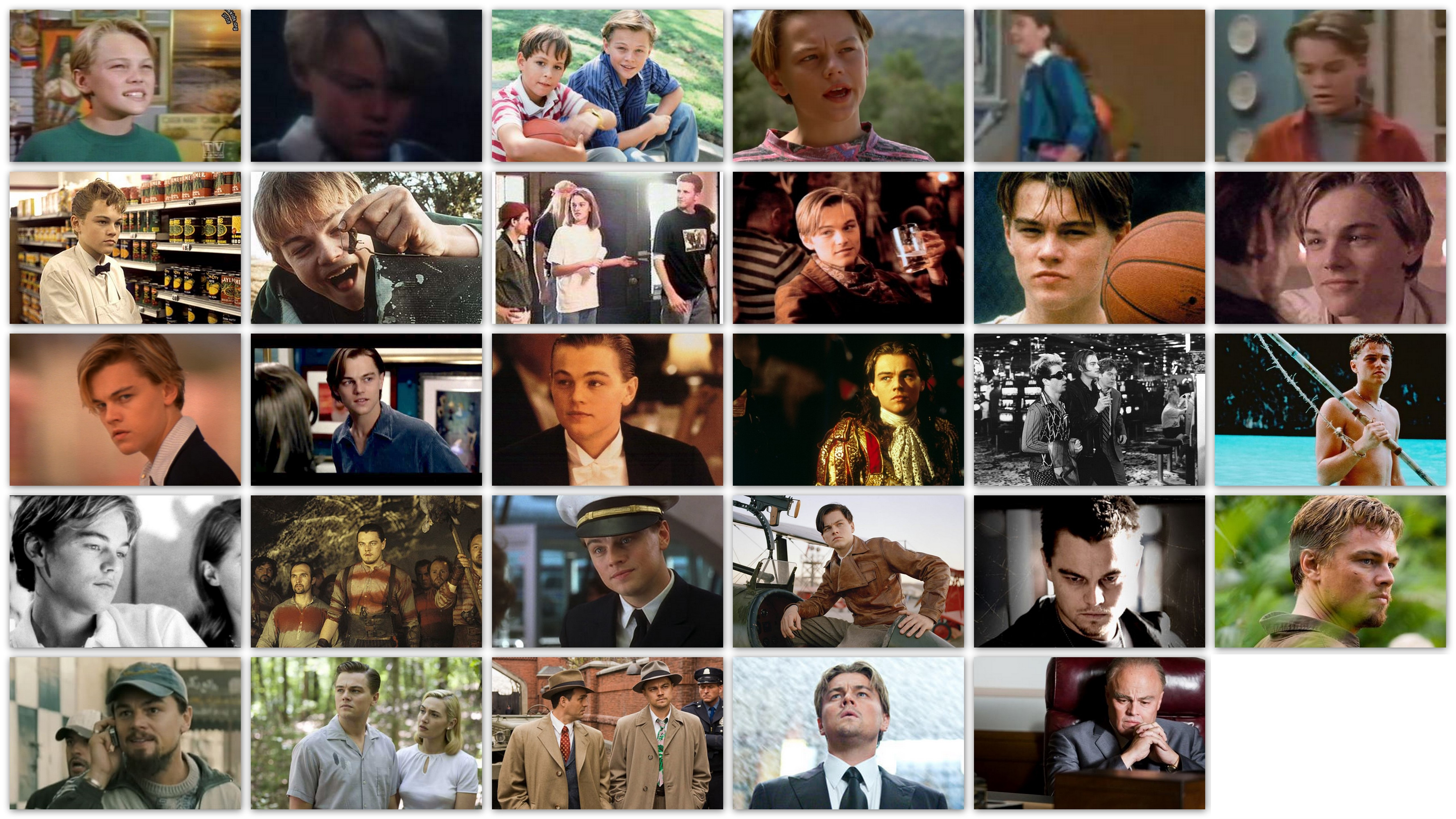 An overview of the roles of Leonardo DiCaprio