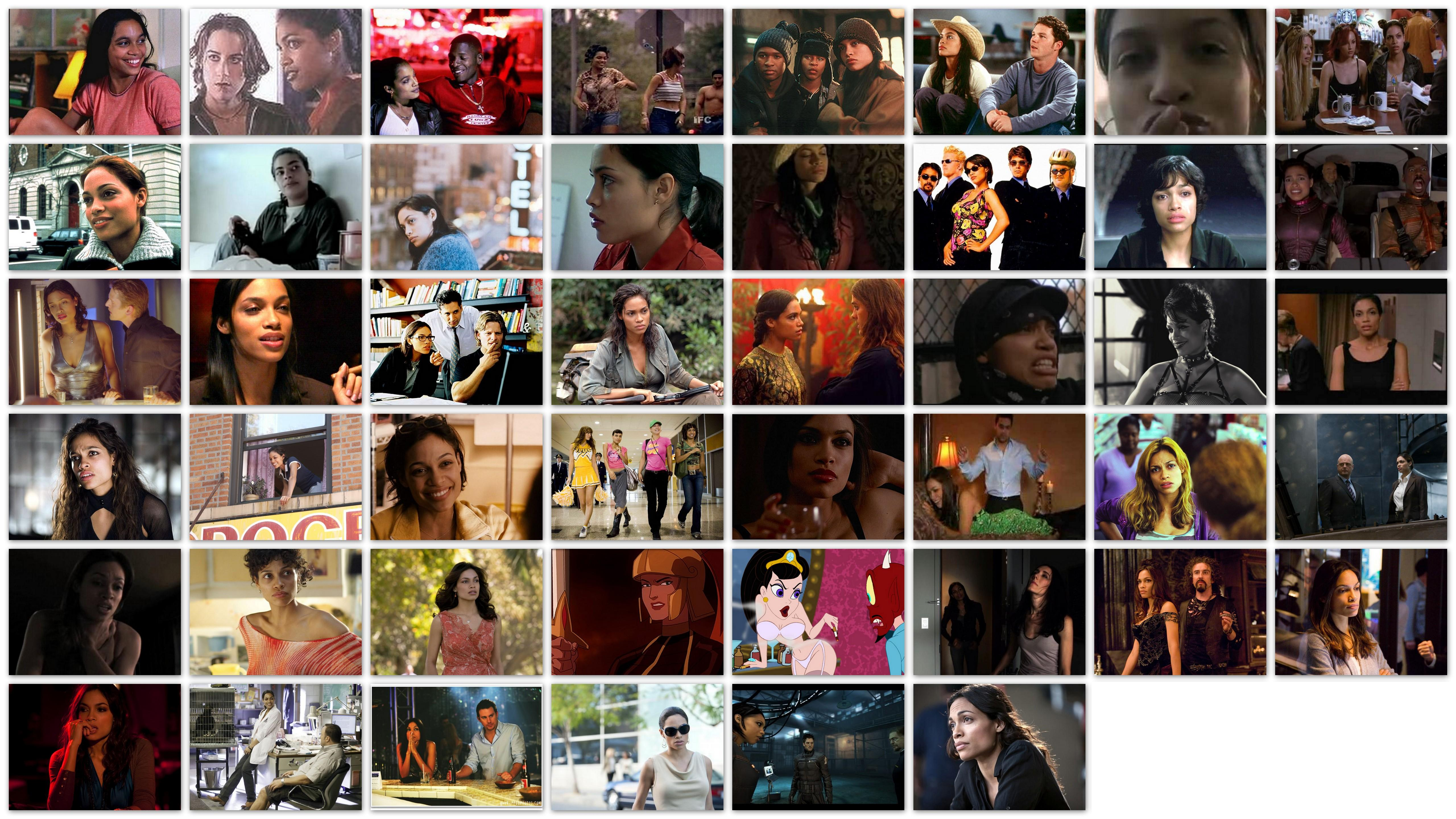 Overview roles of Rosario Dawson
