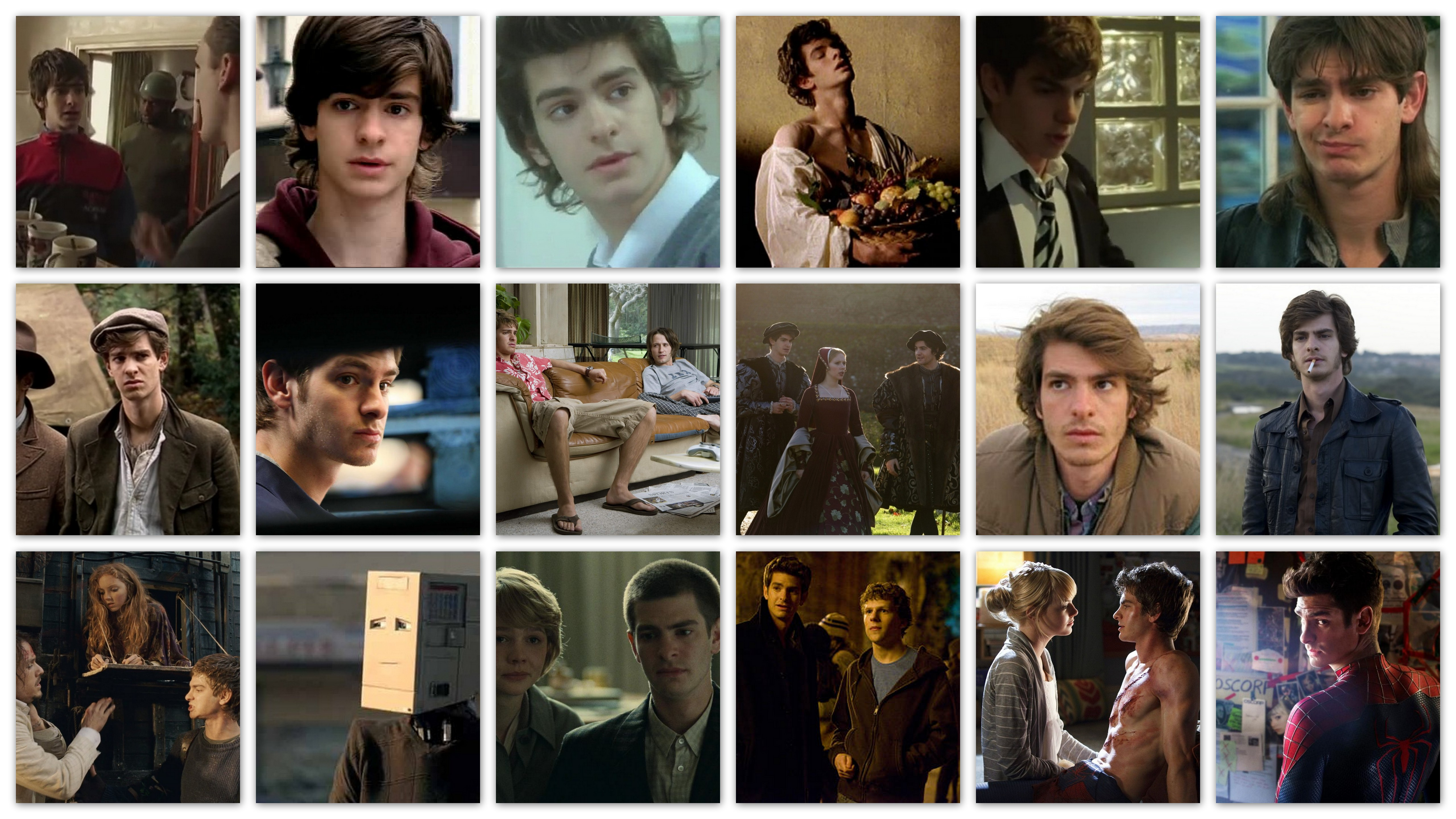 The Many Faces of Andrew Garfield