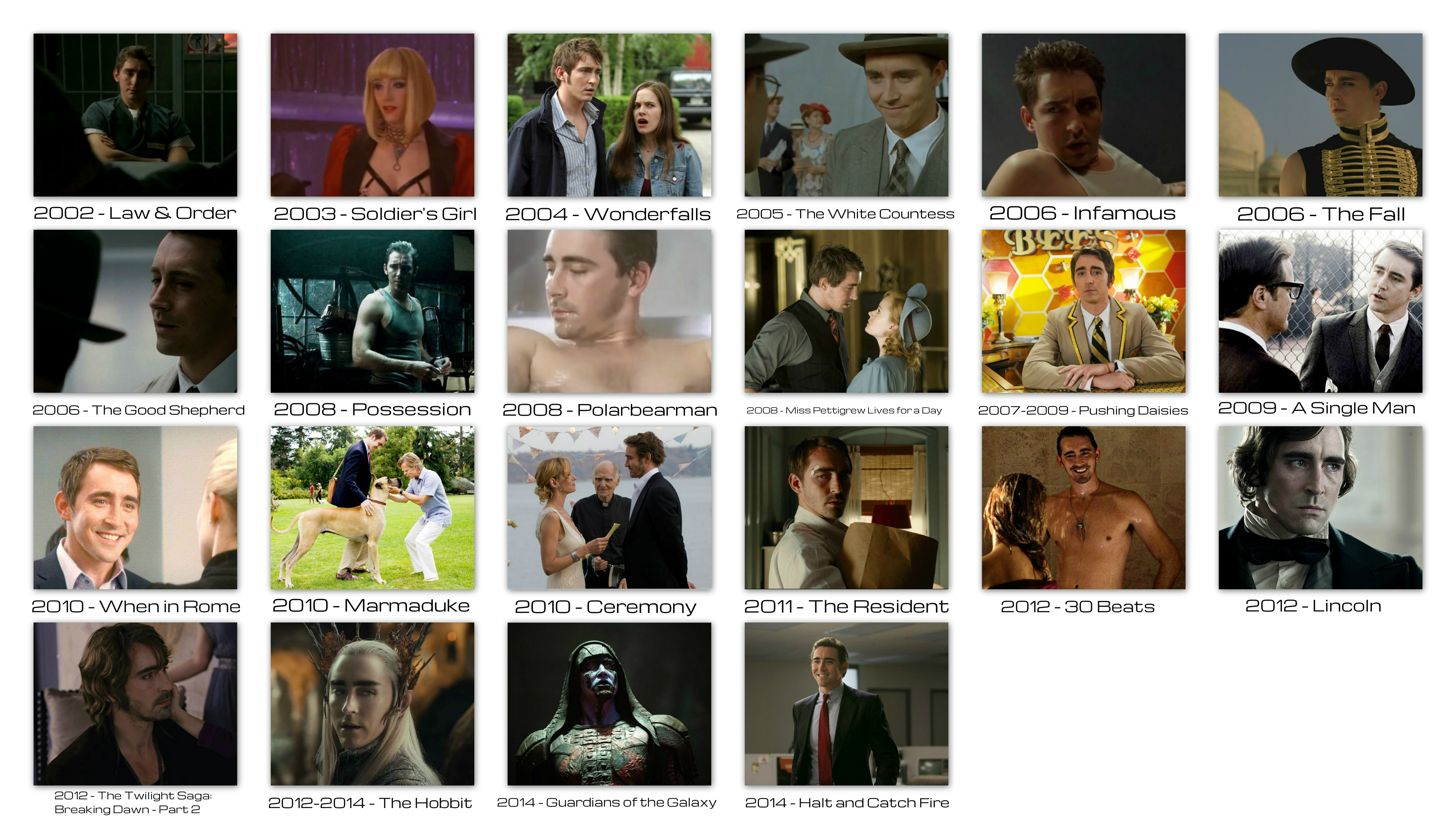 overview roles movies pictures Lee Pace