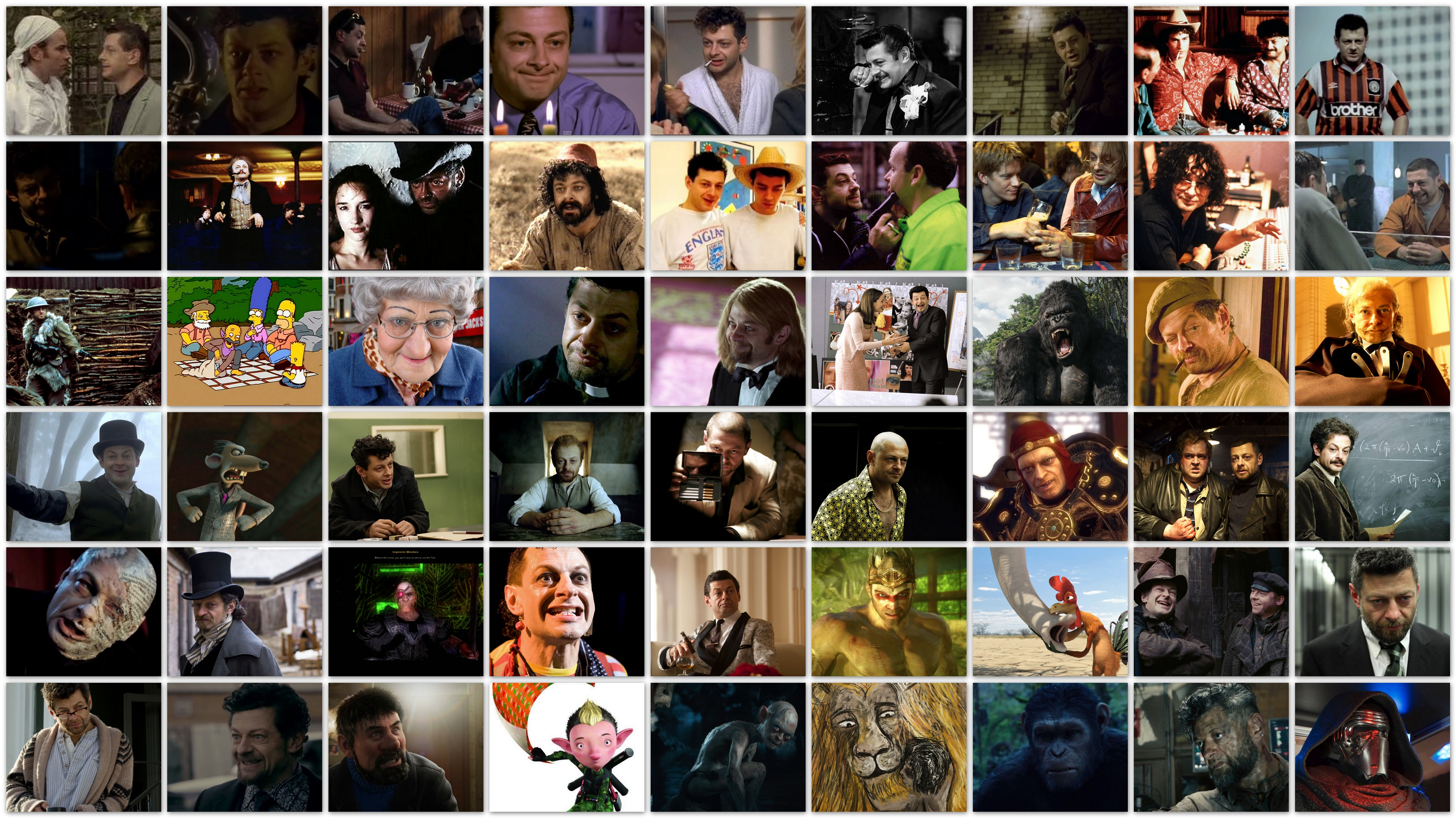 Andy Serkis movies overview